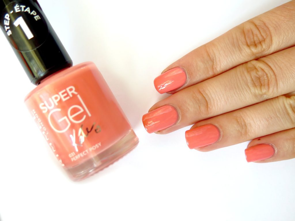 peach nail polish rimmel super gel swatch