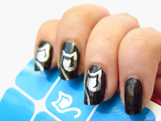 cyklony zakręcone kocie wzory twinkled t metaliczne paznokcie metal manix zdobienie